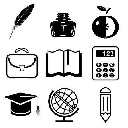 grad: Iconos de vector de la educaci�n