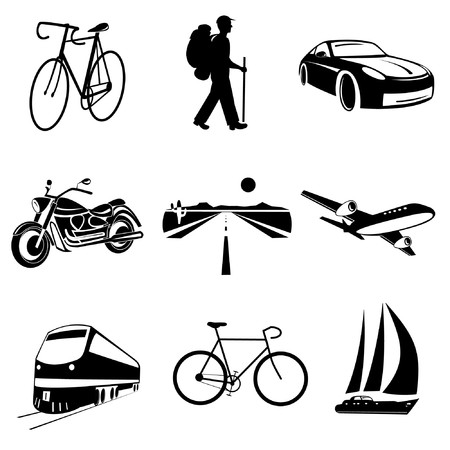 Vector icons of transport Vector