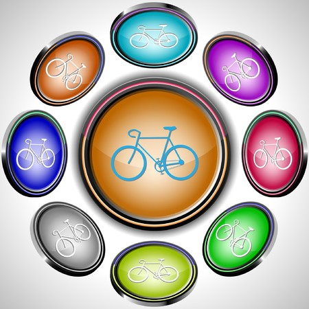 projections: Bicycle. internet buttons. 8 different projections.