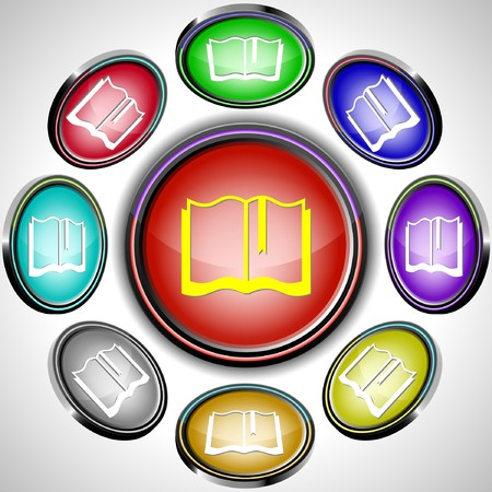 Book.  internet buttons. 8 different projections. Stock Vector - 7261959