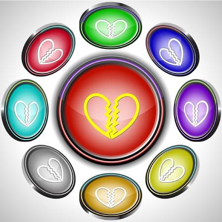 unrequited love: Amor no correspondido. botones de Internet. 8 proyecciones diferentes.