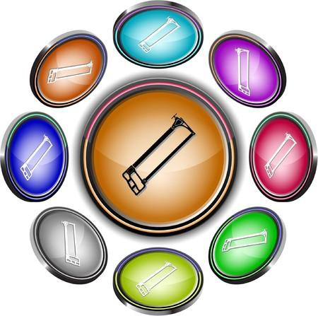 Sierra. botones de Internet. 8 proyecciones diferentes.  Foto de archivo - 7275612