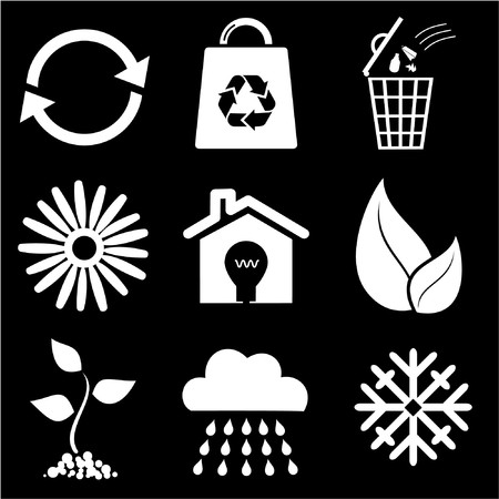 Ecological icons Stock Vector - 7283248