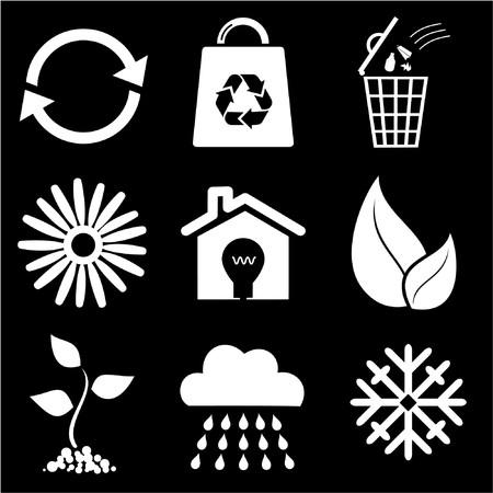 garbage bag: Ecological icons