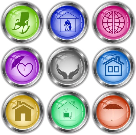 icons of home comfort Stock Vector - 7283258