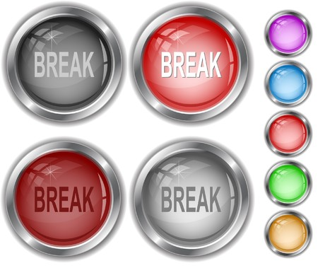 Break. internet buttons. Stock Vector - 7302165