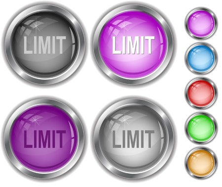Limit. internet buttons. Stock Vector - 7302157