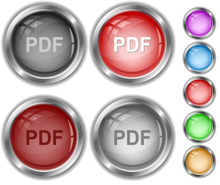 Pdf. internet buttons. Stock Vector - 7302168