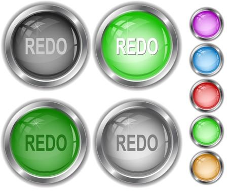 Redo. internet buttons. Stock Vector - 7302164