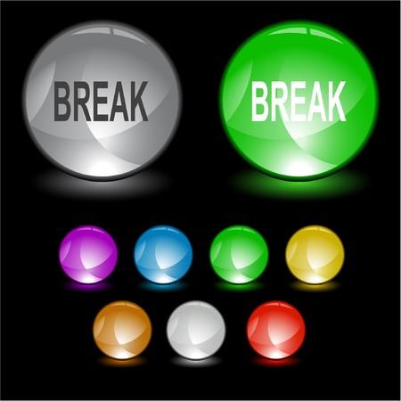 Break. interface element. Vector