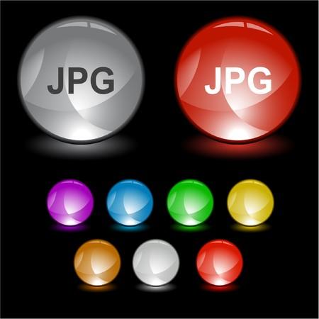 identifier: Jpg. interface element. Illustration