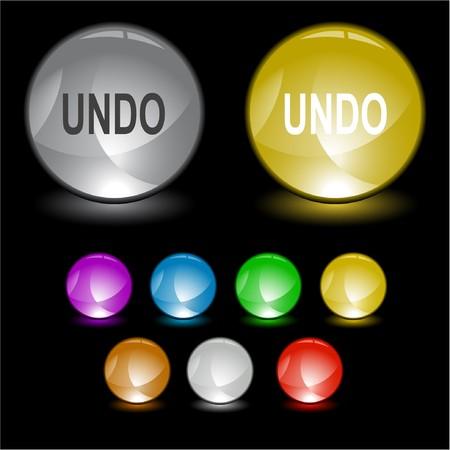 disabling: Undo. interface element. Illustration