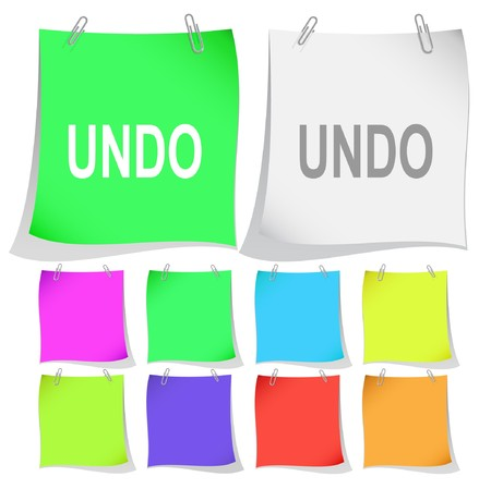 Undo. note papers.