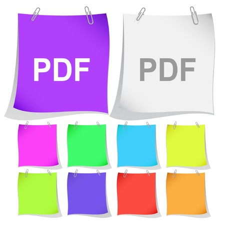 extention: Pdf. note papers.