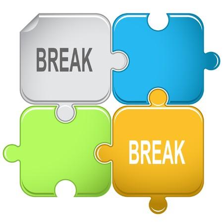 disabling: Break. puzzle. Illustration