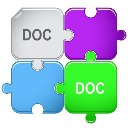 descriptor: Doc. puzzle. Illustration