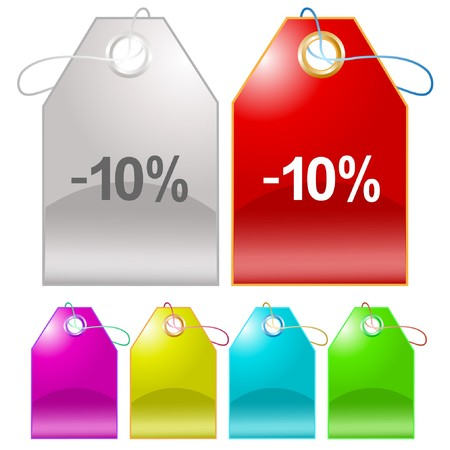 -10%. tags. Stock Vector - 7301952
