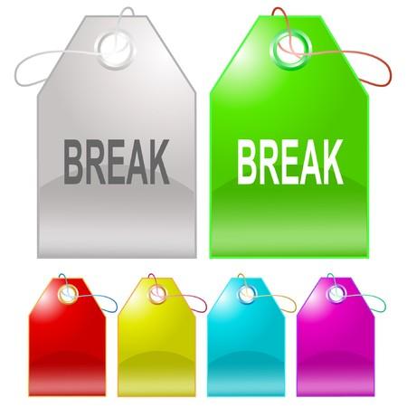 Break. tags.