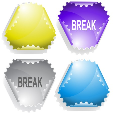 disabling: Break. sticker. Illustration
