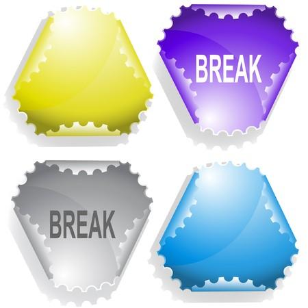 hamose: Break. sticker. Illustration