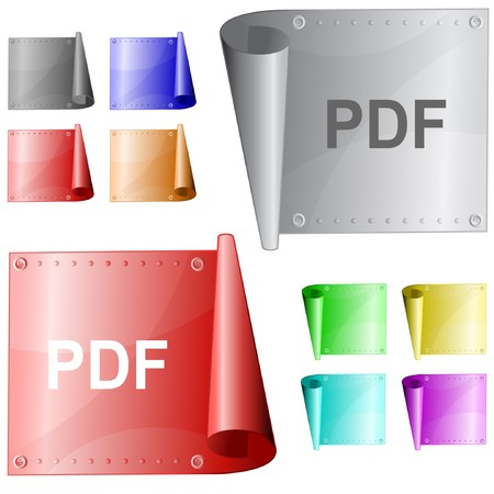 Pdf. metal surface. Stock Vector - 7302104