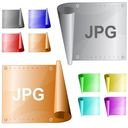 Jpg. metal surface. Stock Vector - 7302107