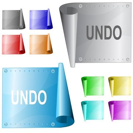 undoing: Undo. metal surface.