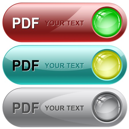 download folder: Pdf. internet buttons. Illustration