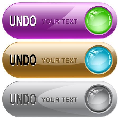 undoing: Undo. internet buttons. Illustration