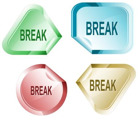 Break. sticker. Ilustração