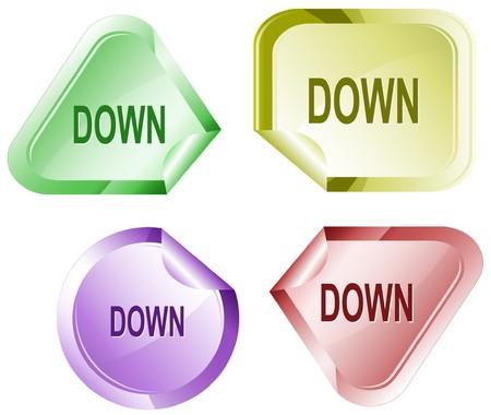 declinate: Down. sticker.