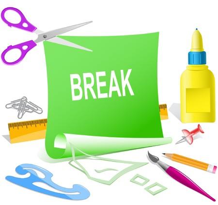 Break. paper template.