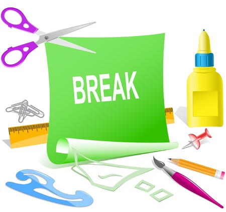 undoing: Break. paper template.