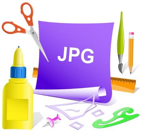 descriptor: Jpg. paper template. Illustration