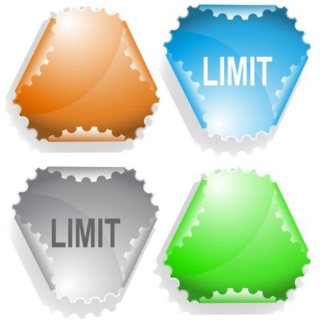declinate: Limit. sticker. Illustration