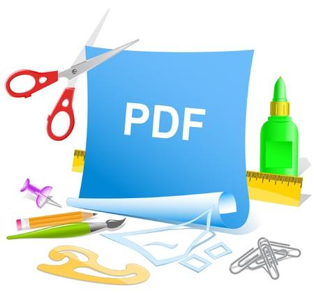 descriptor: Pdf. paper template. Illustration