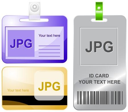 descriptor: Jpg. id cards. Illustration
