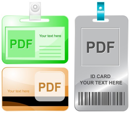 extention: Pdf. id cards.