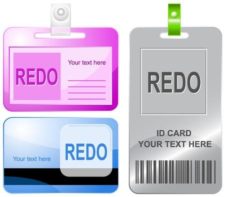 redo: Redo. id cards. Illustration