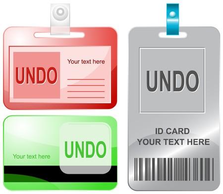 disabling: Undo. id cards. Illustration