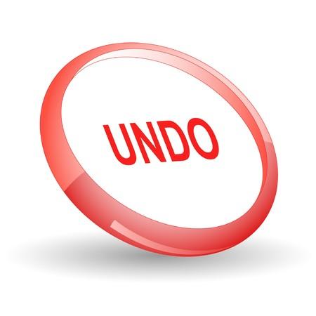 undoing: Undo. icon. Illustration