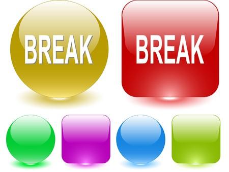 undoing: Break. interface element. Illustration