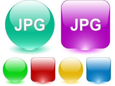 extention: Jpg. interface element. Illustration