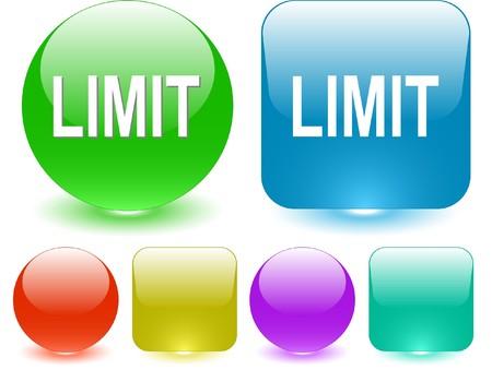 quota: Limit. interface element. Illustration