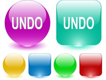 undoing: Undo. interface element. Illustration