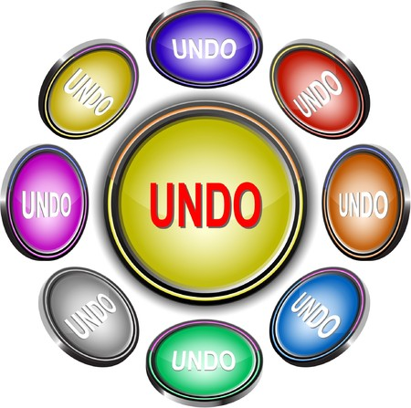 undo: Undo. internet buttons. 8 different projections.