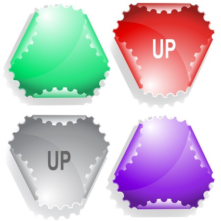 hamous: Up. sticker. Illustration
