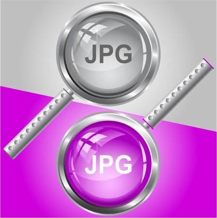 descriptor: Jpg. magnifying glass.