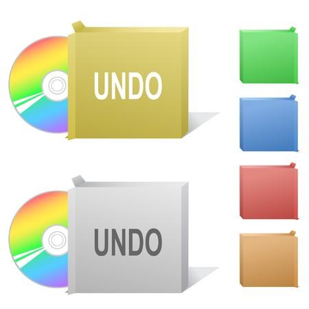 Undo. Box with compact disc. Stock Vector - 7301884