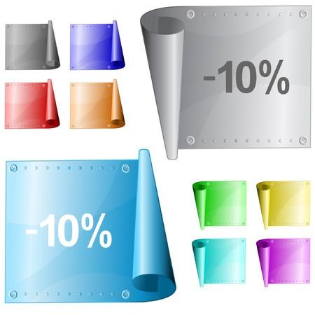 -10%. metal surface. Stock Vector - 7302098